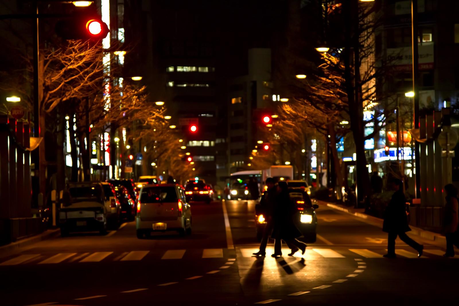 【幸せな時】人がまばらになった街をほろ酔いで歩くのが好きだ。