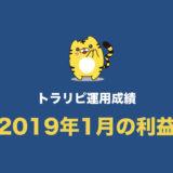 【トラリピ運用成績】2019年1月の結果まとめ。過去最高の利益でした!